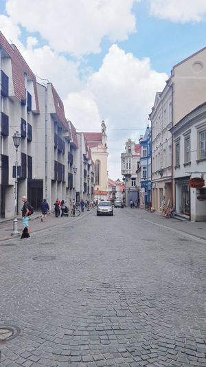 Architecture Outdoors City Day No People Sky Built Structure Trees City Life Town Travel Destinations Old Town Vilnius Old Town Lithuania Vilnius Summer Building Exterior Landscape City Architecture Cityscape Nature Street Photography Street Street Life