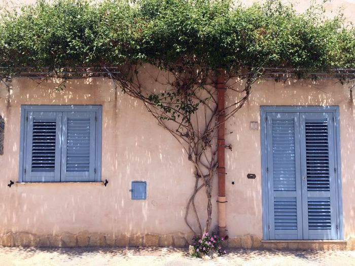 Architecture Architecture_collection Nature On Your Doorstep Sicily Street View Architecture Beauty In Nature Blue Building Exterior Built Structure Door Italy Outdoors Window