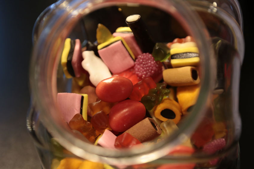 1704, sweets in a glass Close-up Day Freshness Glass Indoors  Lakritz Large Group Of Objects Multi Colored No People Sweet Food Sweets Variation EyeEm Diversity Paint The Town Yellow