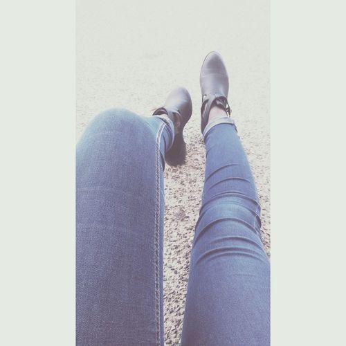 Chaussures  Noir Jeans Jambes