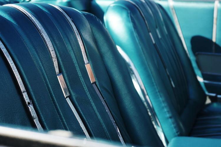 Close-Up Of Vintage Car Seats