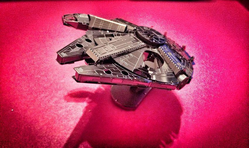 Star Wars Sculpture Metallic Metal Millennium Falcon