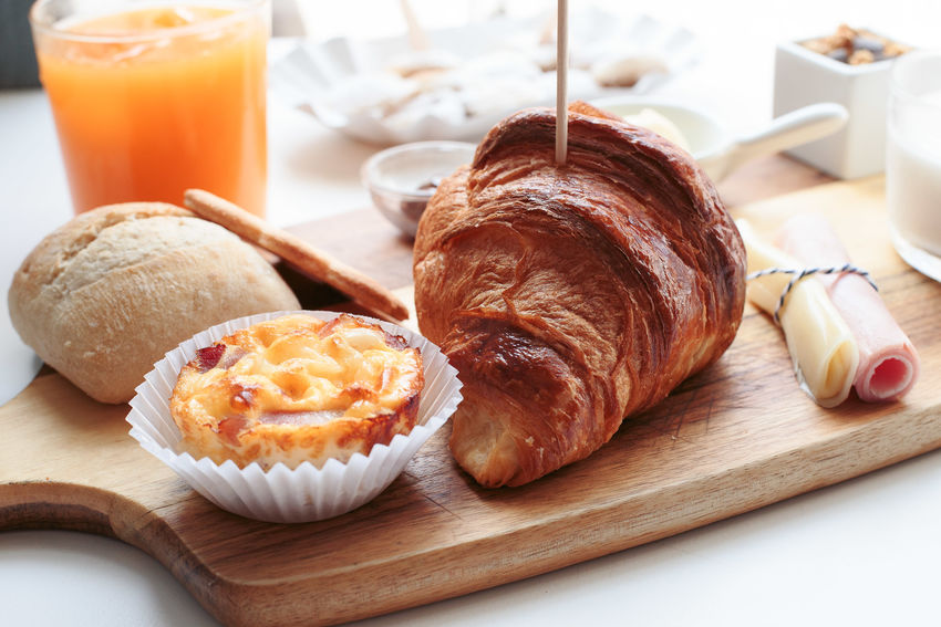 Breakfast Breakfast Brunch Close-up Croissant Day Food Food And Drink French Food Freshness Indoors  Indulgence No People Plate Ready-to-eat Sweet Food Table