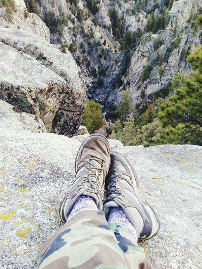 Nature Personal Perspective Human Body Part Leisure Activity Outdoors Tree Nature Day Shoe Climbing A Mountain Climb Cliffside Up In The Sky Elevation Photography Boulder, Colorado Mountains And Valleys Mountain Top Mountainlove Happyness😊 Solitary Traveler Solitude. Time Alone Is Of The Essence Sky Hiking Shoes Hiking Pictures The Great Outdoors - 2017 EyeEm Awards