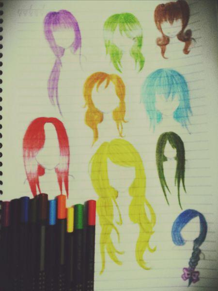 Praticando o desenho e colorindo ;) Desenhos Mangaart Manga Drawing Pencil Drawing My Drawing