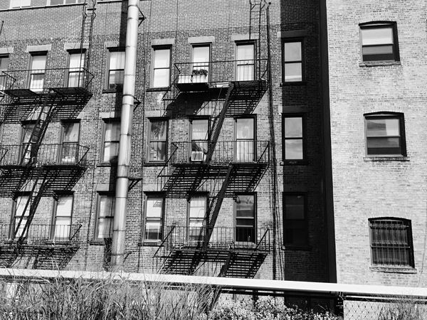 Architecture Built Structure Building Exterior Window No People Emergency Exit Fire Escape Day Outdoors Staircase Steps And Staircases EyeEmNewHere Holiday Memories Traveller New York City New York Manhattan High Line Park Blackandwhite Black And White Black & White Blackandwhite Photography Black And White Photography Black&white Welcome To Black Welcome To Black