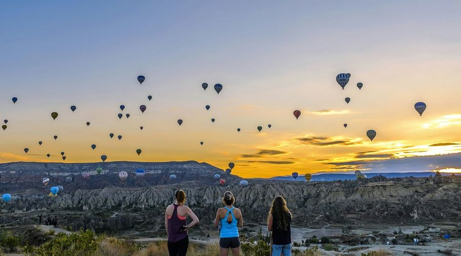 RePicture Travel Sunrise Enjoying Life Colorful Travel Turkey Cappadocia Rising Sun Balloon Friendship Connected By Travel