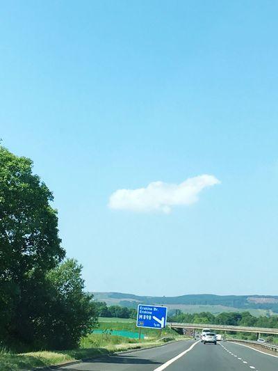 Plane shaped cloud