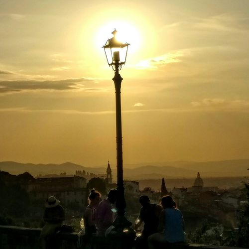 Sun setting over Florence Florence Piazza Michelangolo 43 Golden Moments