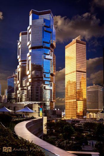 HongKong Fashion Building HongKong Building Sunset Cityscape