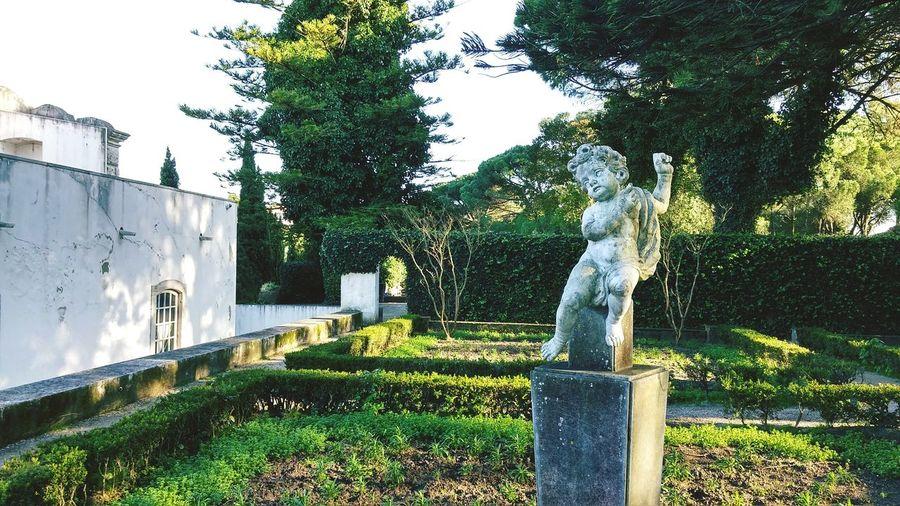 Loleny statue in a empty garden