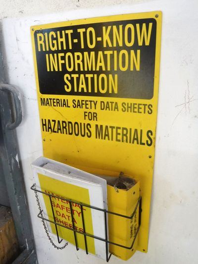 SDS Sds Msds Yellow Text