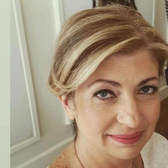 Beautiful classic updo for this amazing women Eventhair PARTYHAIR2015 InspirationPhoto Blondehairdontcare squaredroid