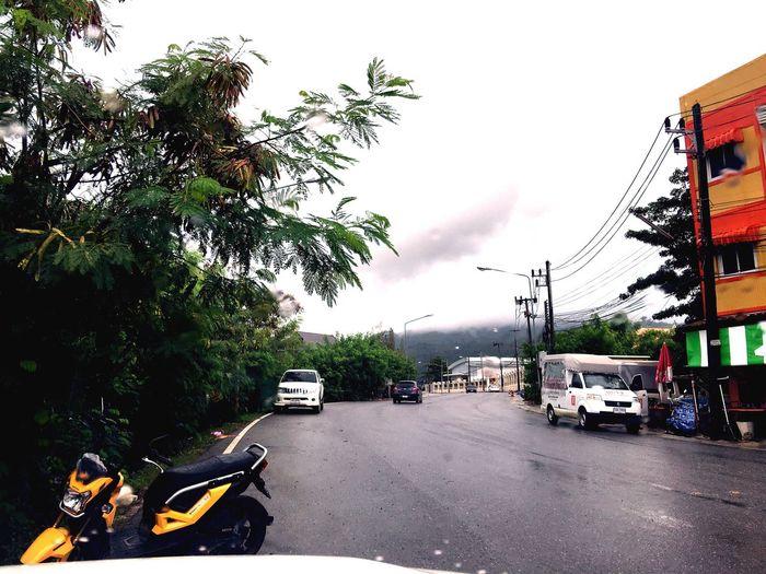 Rainingday in phukettown thailand Rain Car Wet phuket Thailand Phuket