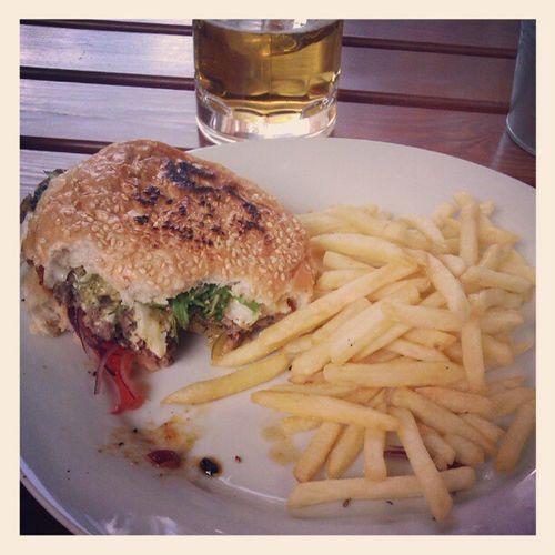 Mozzarela & pesto burger Fries Burger Review Igersgdansk Gdansk Originalburger Gastro Food