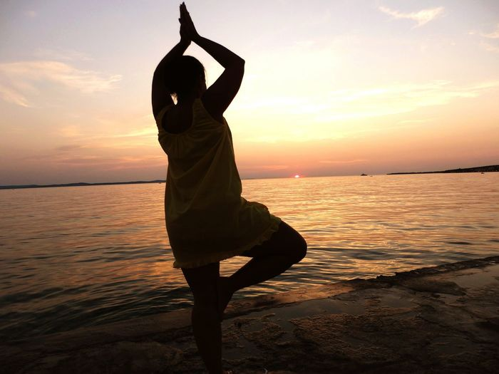 Alternative Fitness Life3filter Yoga Adria Croatia Zadar Diklo Sunset Sunset Silhouettes Ilovemylife Golden Hour
