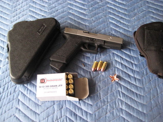 strapped new 50 glock of today early bday present Strapped