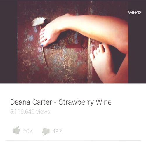 First song I ever learned how to sing Strawberry Wine Favourite Song Deana Carter Hot July Moon