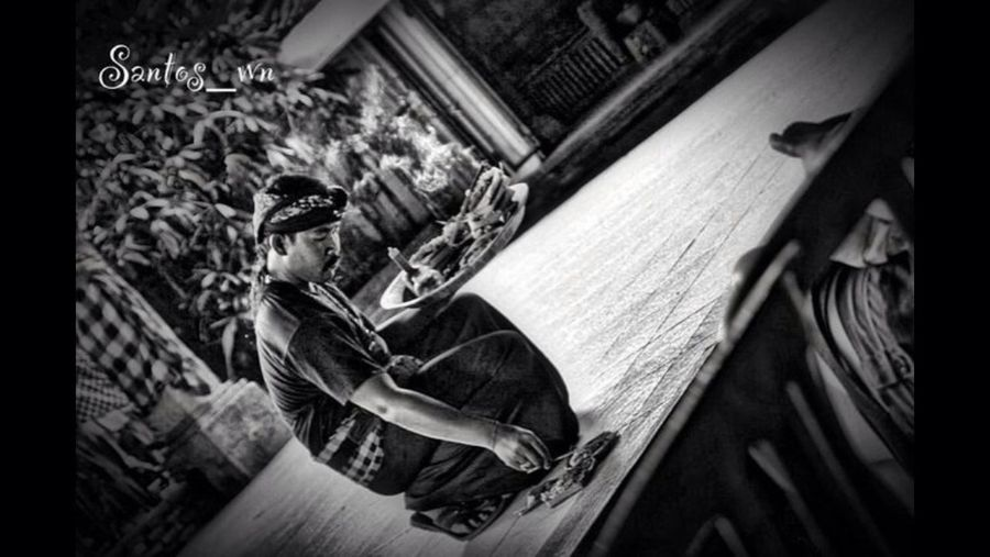 Preparation  Balinese Dancing Traditional Dance Black And White Collection