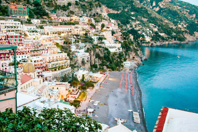 Another view of positano town. the different side
