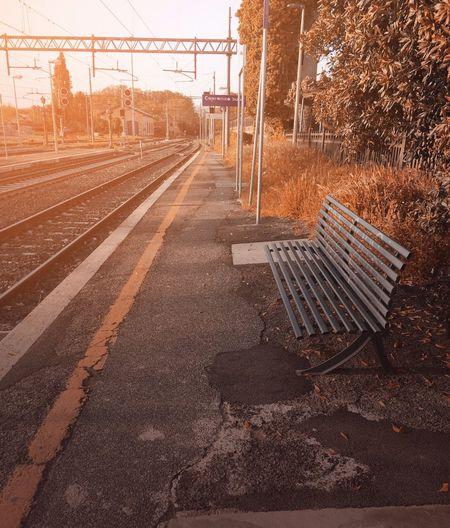 Ricordi Lazio Viterbo Capranica Missing You Perfect Station Train Italy Nature Track Railroad Track No People Architecture Sunset Sunlight Public Transportation Day First Eyeem Photo EyeEmNewHere EyeEmNewHere Autumn Mood
