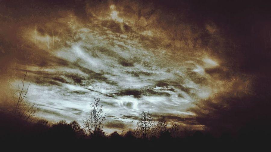 Dark Landscape Creepy Silhouette Creepy Clouds Halloween Good Night Fujifilm Finepix SL1000 Eye4photography