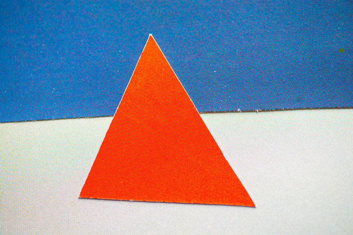 Blue Close-up Composition Composition In Orange And Yellow Day Forms And Shapes Indoors  No People Red Red Shape Triangle Shape