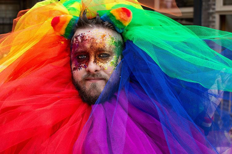 Proud Faces. Portraits LONDON❤ London Malephotographerofthemonth Lgbt Lgbt Pride Pride London Pride 2018 London Pride Rainbow Colors Portrait Photography Portraiture The Portraitist - 2018 EyeEm Awards Eyelash Portrait Multi Colored Beauty Make-up Face Paint Stage Make-up Love Is Love