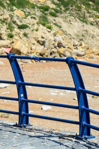 At The Beach Blue Rails Blue Ribbon Memorial Memories Outdoors Railings Sadness Seaside Single Blue Ribbon