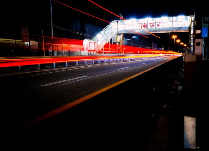 Illuminated Night Light Trail Transportation Long Exposure Speed Built Structure Architecture Tail Light Outdoors No People Dark Building Exterior Light Lightart Venezia EyeEm Gallery Photographing EyeEm Best Shots EyeEmBestPics TakeoverContrast Red Redpower Cars Notav