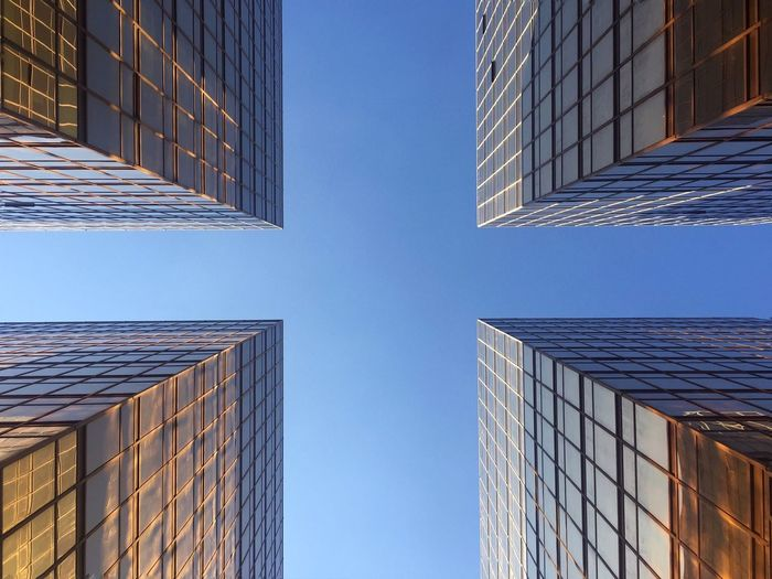 Architecture Look Up Symmetry Urban Geometry Sky Hong Kong Perspective IPhoneography Buildings Reflection Glass Showcase: November Color IPS2016Composition Pattern Pieces EyeEm x WhiteWall: Architecture Travel Pivotal Ideas The Graphic City Colour Your Horizn