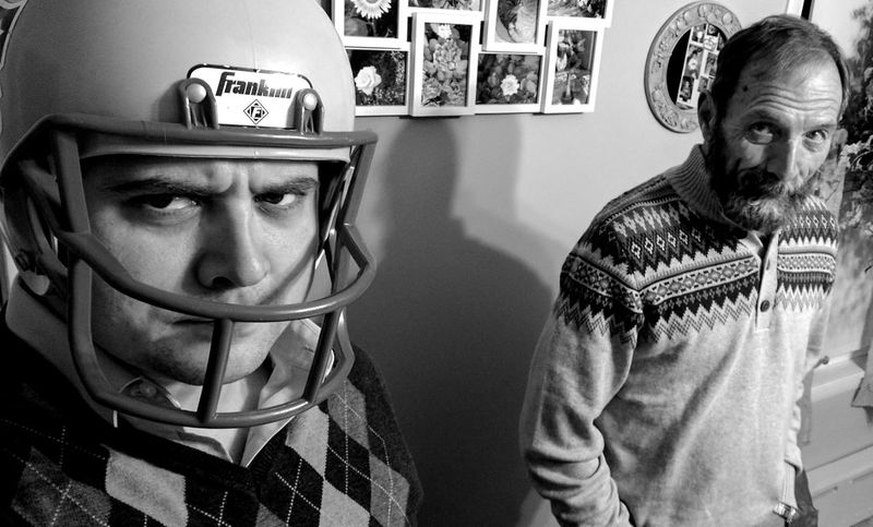 Selfie with Rem. Lifestyles Indoors  Men Portrait Adults Only Adult People Close-up Day Christmas Dinner Patriots Helmet PATRIOTSNATION Selfie ✌ Inlaws Blackandwhite Family Gatherings Remdog The Portraitist - 2017 EyeEm Awards BYOPaper! Black And White Friday