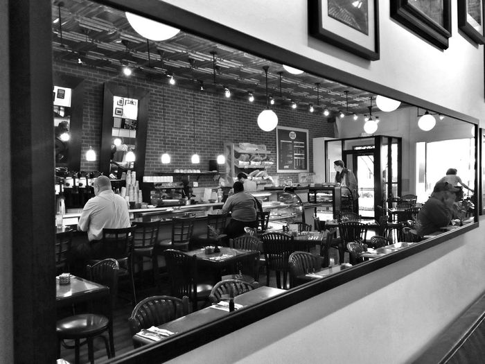 Black And White Monochrome Streetphotography Streetphoto_bw Breakfast at the Takoma Bistro.