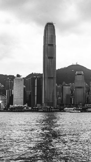 Hong Kong Financial District Blackandwhite Black And White Monochromatic monochrome photography Monochrome Light And Shadow City Cityscape Urban Skyline Modern Skyscraper Water Business Finance And Industry Sky Architecture Office Building Tall - High Tower Office Building Exterior Downtown District Building Story High Rise Tall Skyline