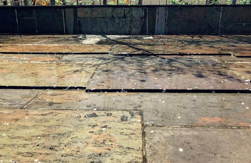 Full frame shot of old footpath