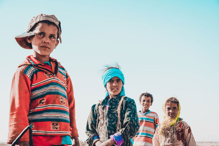 upper egypt The Fashion Photographer - 2018 EyeEm Awards The Portraitist - 2018 EyeEm Awards Adult Clear Sky Clothing Day Emotion Group Of People Leisure Activity Lifestyles Looking At Camera Men Nature People Portrait Real People Sky Smiling Togetherness Warm Clothing Women Young Men The Traveler - 2018 EyeEm Awards