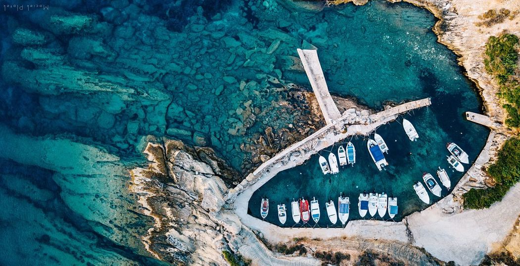 Boats Drone  Aerial Bay Boats Communication Day No People High Angle View Water Nature Blue Architecture