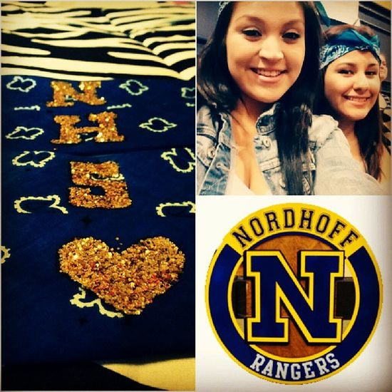 Lets hear it for the blue and gold !!! Nhs vs san marcos Homecominggame Gofightwin