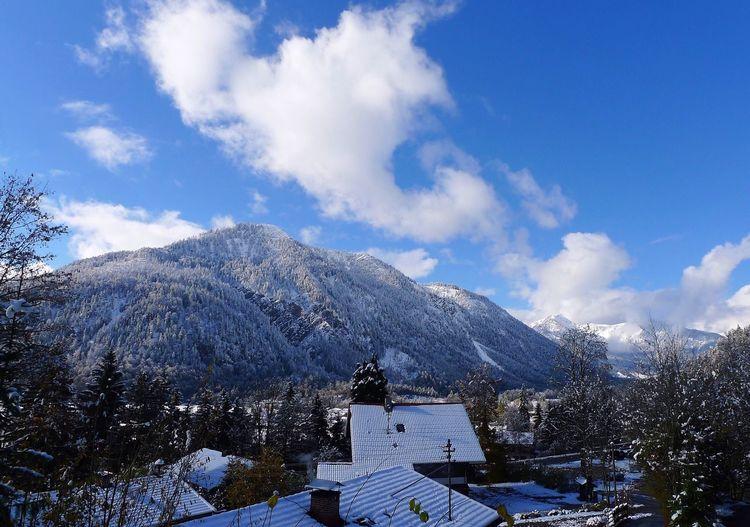 Idyllic rural scene in winter