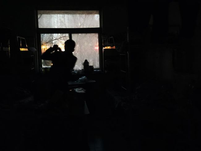 Silhouette Crime Window Indoors  People Adult Weapon Adults Only One Person One Woman Only Young Adult Day