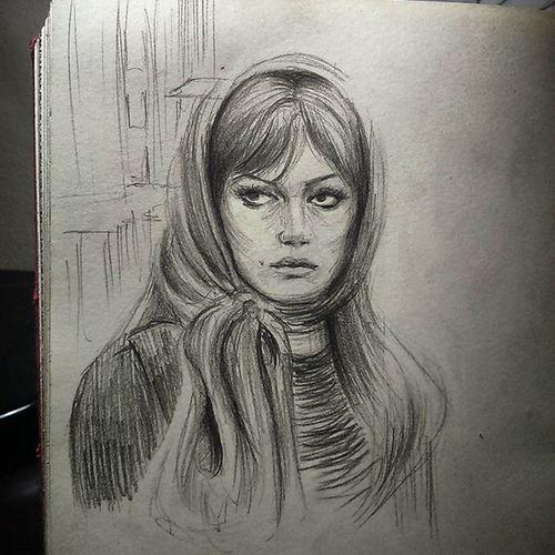 Ah Türkan!.. Nightsketch Doodling Charcoal Sketchbook Sketching Turkansoray Yeşilçam  Moleskine Sketchoftheday  Drawing