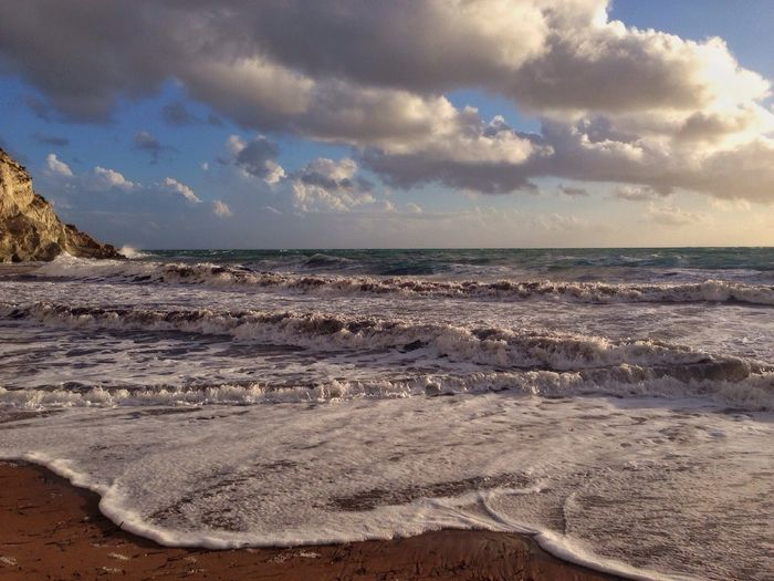 Sea And Sky Clouds And Sky Crazysea Seafoams Ovacık Kleopatrabeach Cesme, Turkey