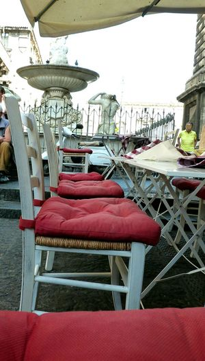 EyeEm Selects Chair Table DayLifestyles No People Built Structure Outdoors Day EyeEmBestPics Eye4photography  EyeEm Gallery EyeEmNewHere Catania Restaurant Travel Destinations Building Exterior