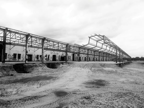 Large Construction Sand Contruction Construction Work Construction Site Steetphotography Steel Hall Steel Structure  Sandpit Vintage Architecture Vintage Vintage Style
