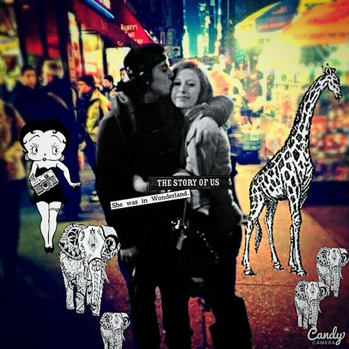 Hello World Young Wild And Free(; Younglove Newyorkcity Times Square NYC City Lights At Night BettyBoop Were All Mad Here Babyelephant