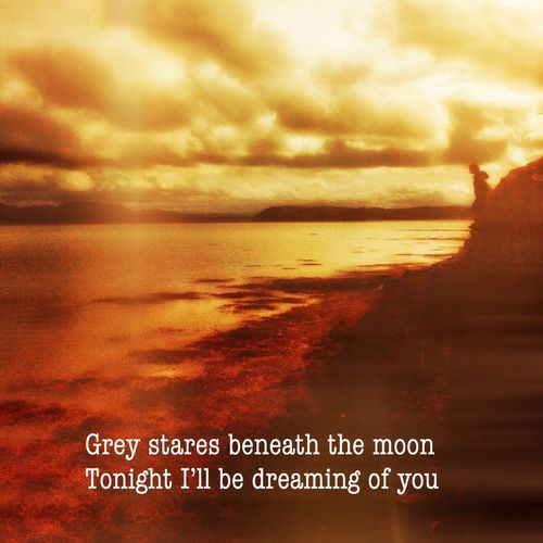 Grey stares beneath the moon Tonight I'll be dreaming of you People and rhythm instead And there you'll be There you'll be inside my head