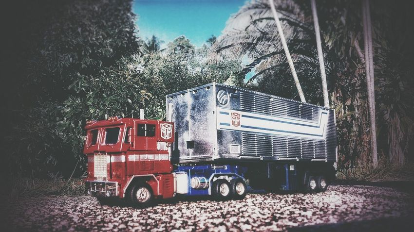 Daytime journey Icon 80s Timeless Time Machine Trailer Journey View Contrast Outside Branch Tree Sky Tractor Vehicle Trailer Truck EyeEmNewHere