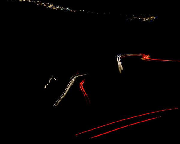 Long Exposure Red Light Elevated Road Vehicle Light Traffic Light