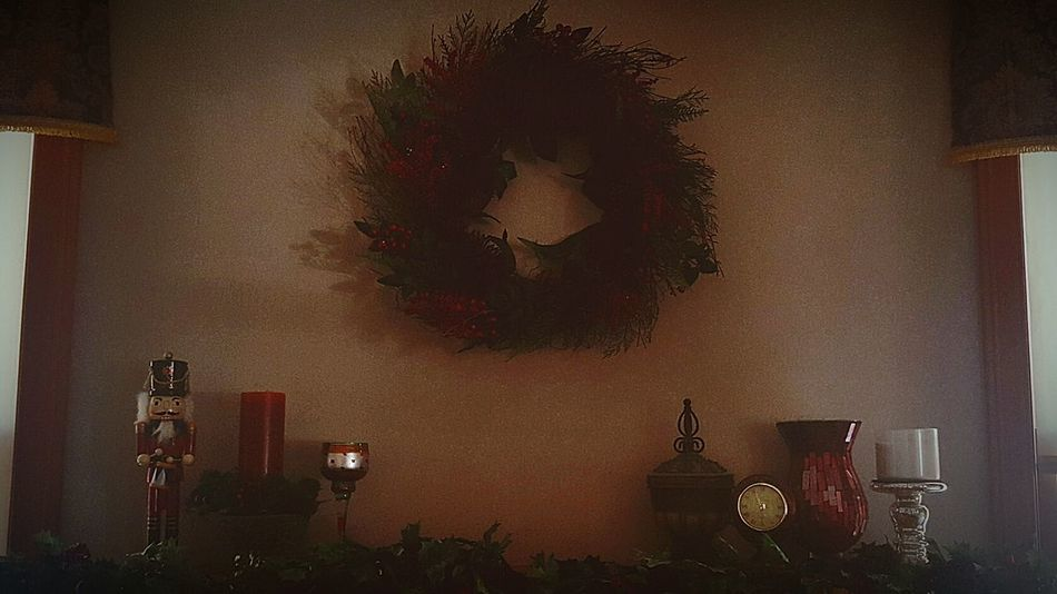 Indoors  No People Home Interior Living Room Day Nut Cracker Candles Wreath