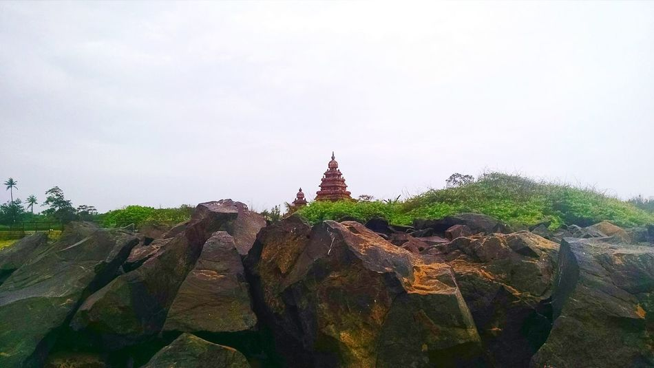 Travel Destinations Outdoors Silhouette Protected Monument Mahabalipuram, India Travel No People Rocks Stone Sculpture Tourism Shore Temple Sky Architecture